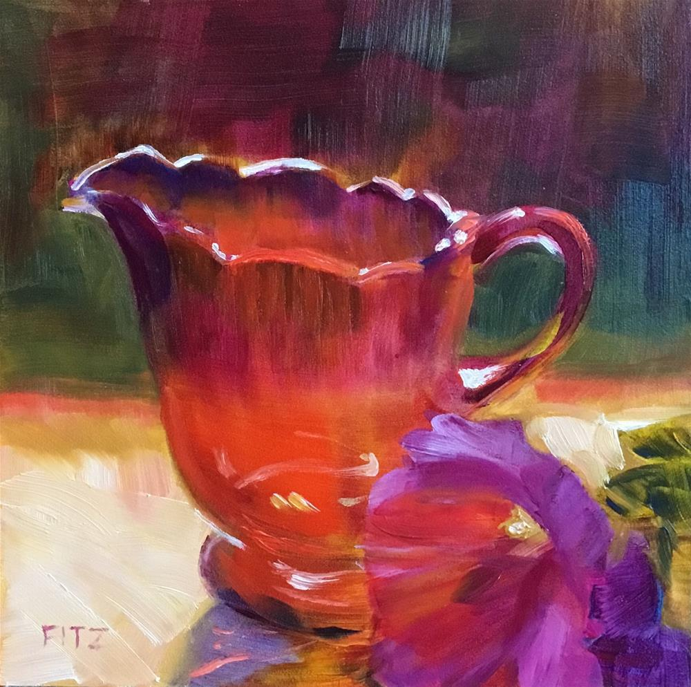 """Ruby Pitcher"" original fine art by Charlotte Fitzgerald"