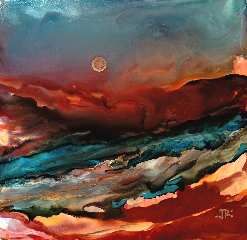 """Dreamscape No. 469"" original fine art by June Rollins"