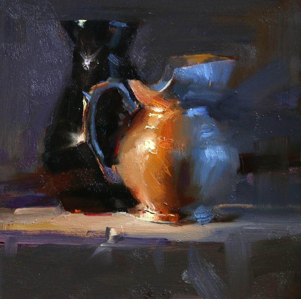 """Shining in Warm and Cool 2"" original fine art by Qiang Huang"
