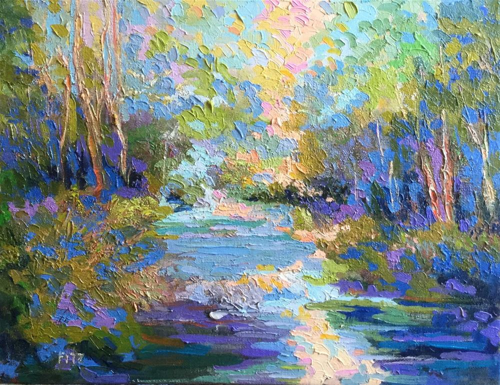 """Sunshine on the Creek"" original fine art by Charlotte Fitzgerald"