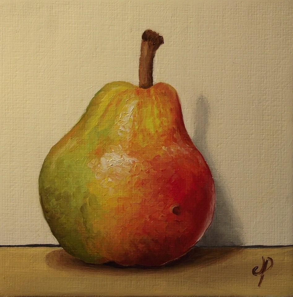 """Small Blush pear"" original fine art by Jane Palmer"