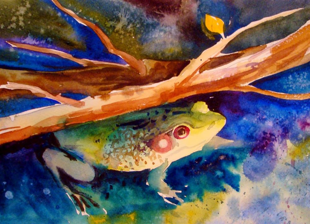 """Froggie"" original fine art by Kathy Los-Rathburn"