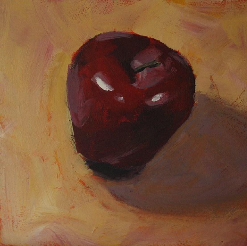 """Red Delicious"" original fine art by Shannon Bauer"