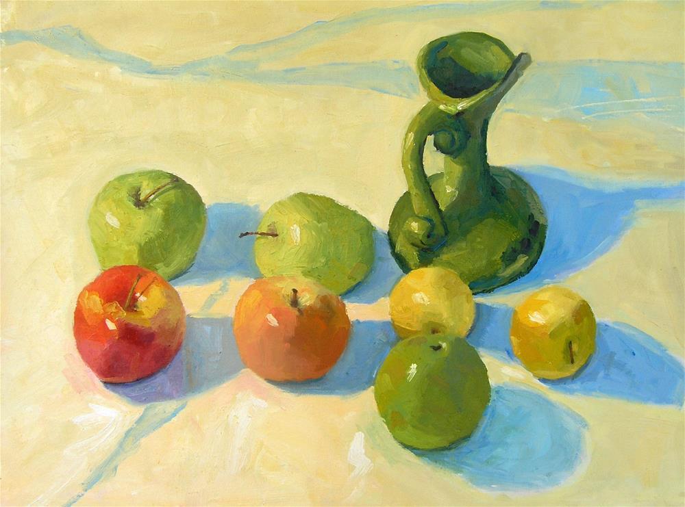 """Desert Apples"" original fine art by Nina Brodsky"