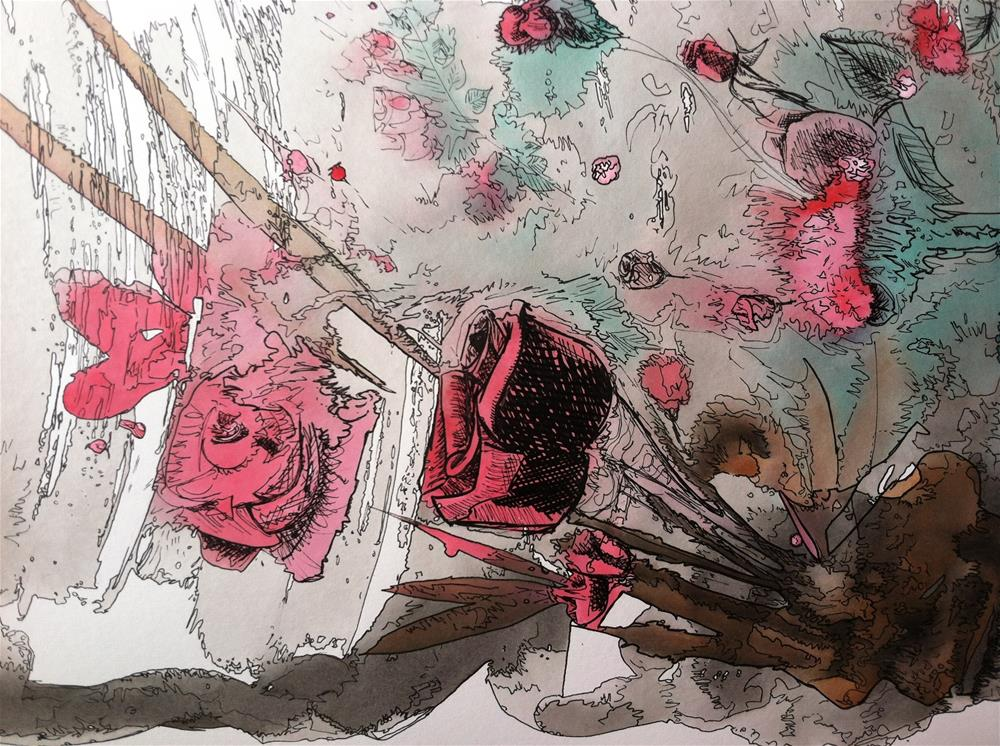 """A rose dream"" original fine art by Arron McGuire"