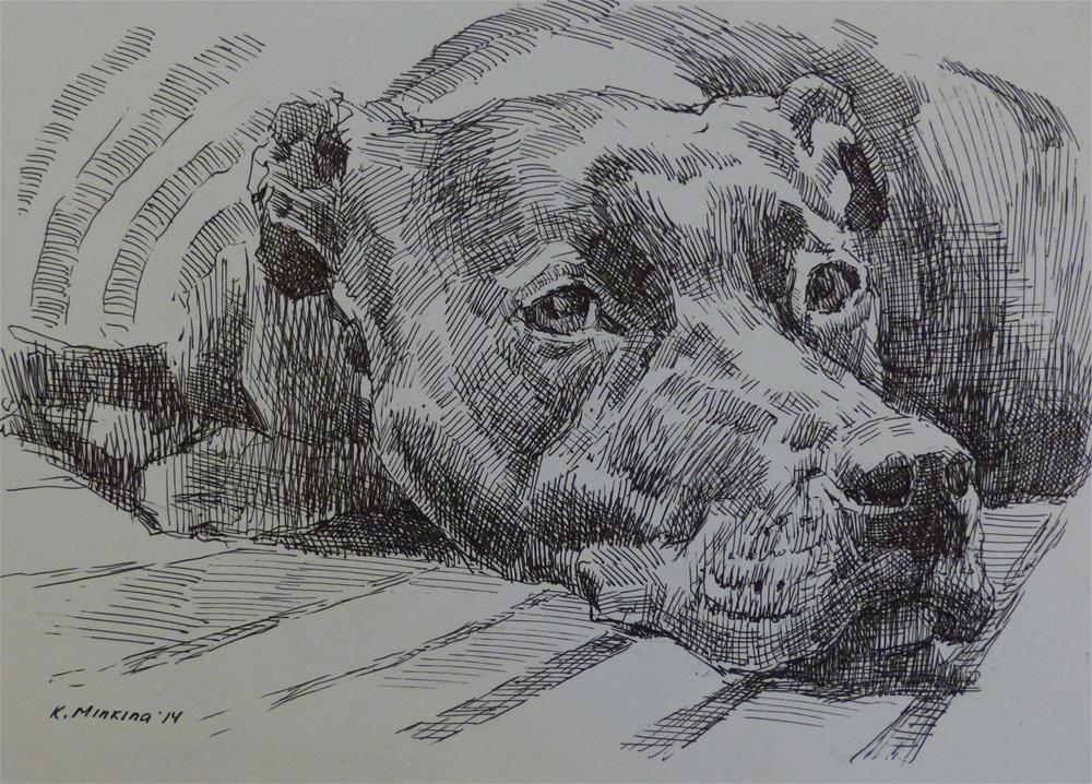 """adopt10"" original fine art by Katya Minkina"