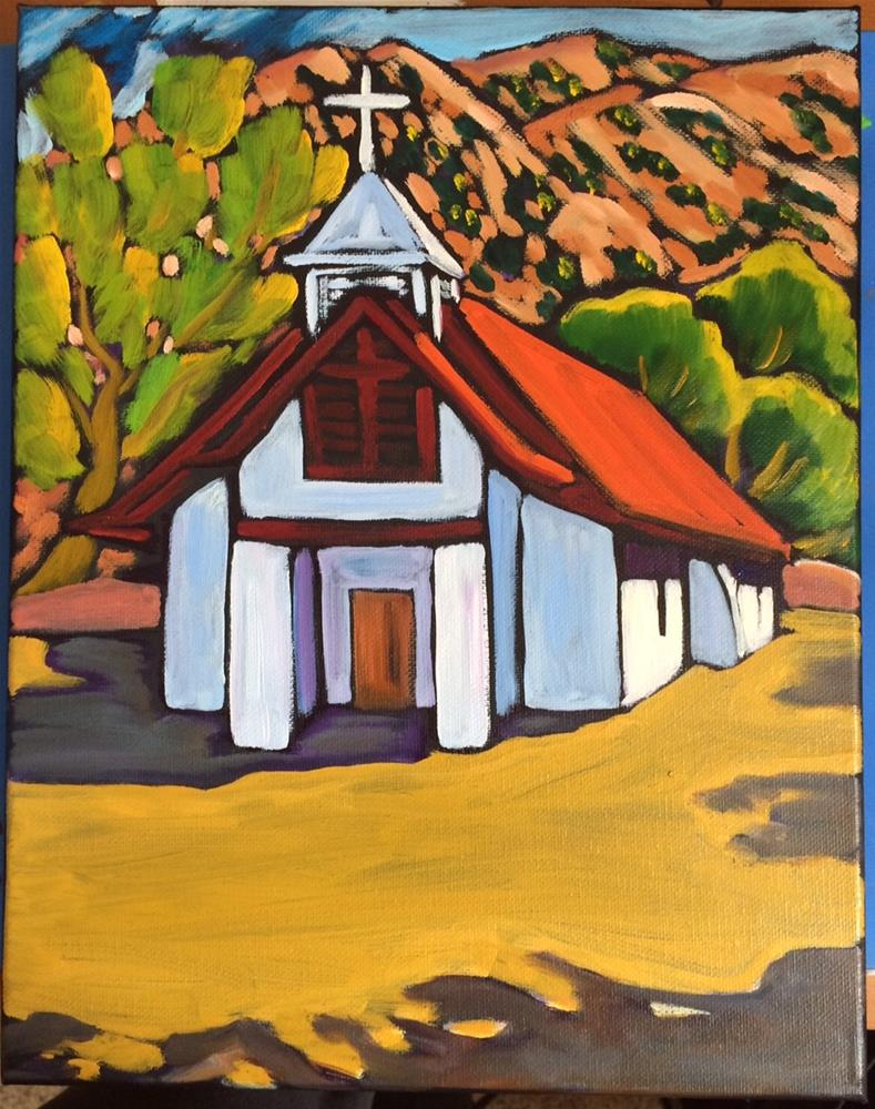 """church in Pilar New Mexico"" original fine art by Robyn Suzanne"