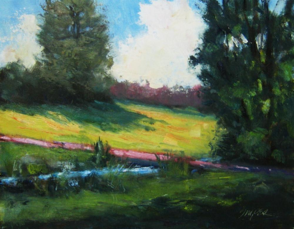 """Creek at Belmont Abbey"" original fine art by Connie Snipes"