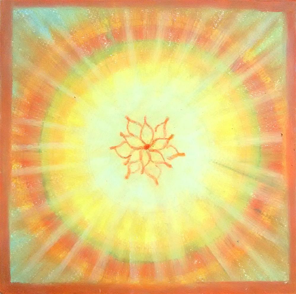 """Mandala of Divine"" original fine art by Adéla Svobodová"