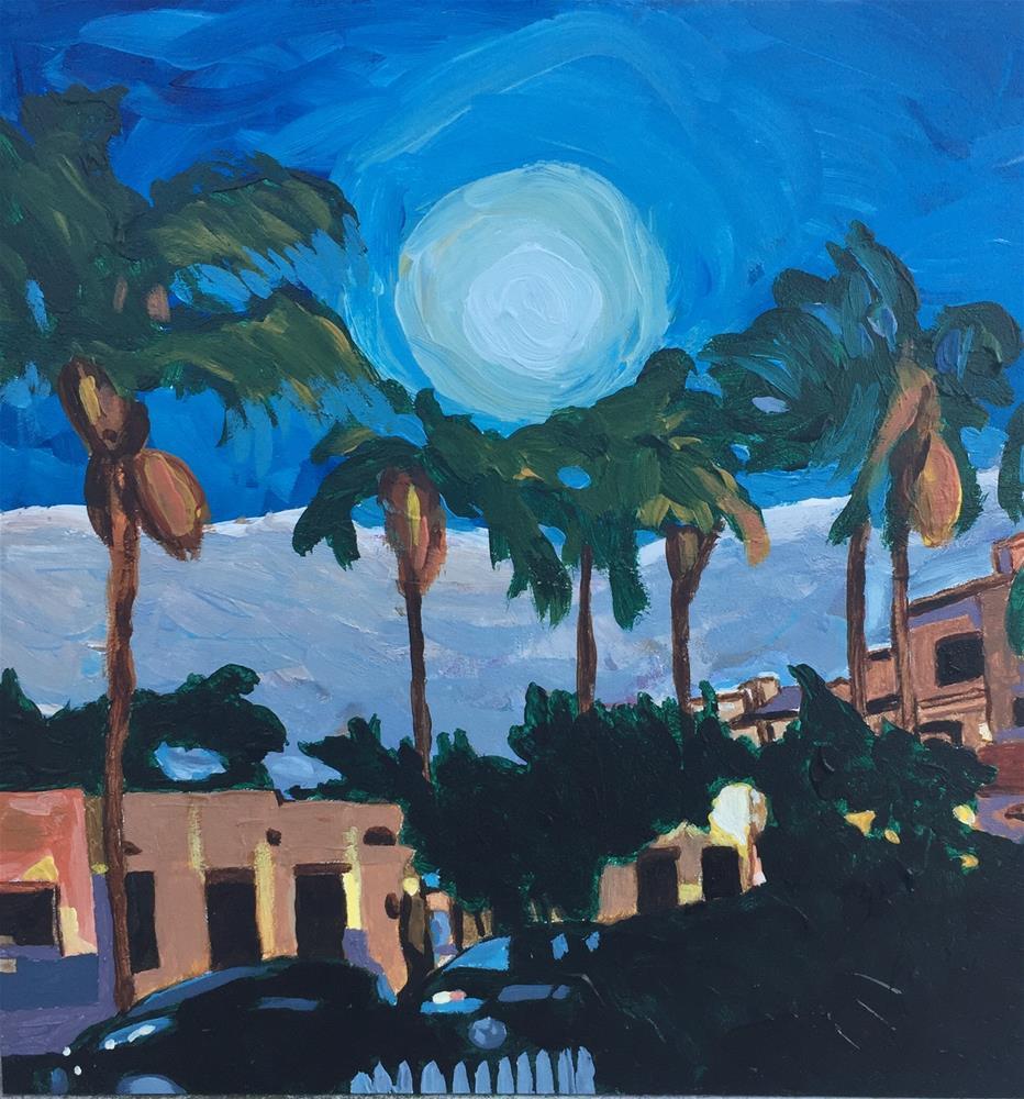 """Twilight on First Avenue "" original fine art by Sue Sneeringer"