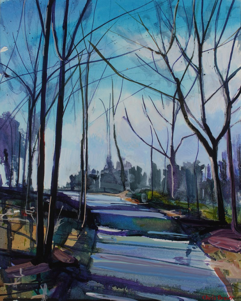 """""""Delaware Park"""" original fine art by Chris Breier"""