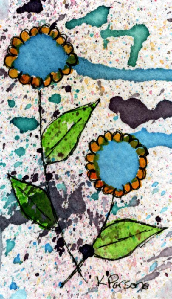 """Two in the Rain"" original fine art by Kali Parsons"