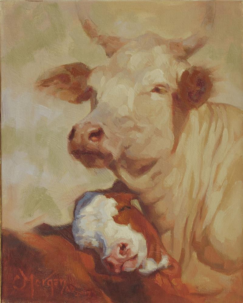 """Mama's Boy"" original fine art by Cecile W. Morgan"