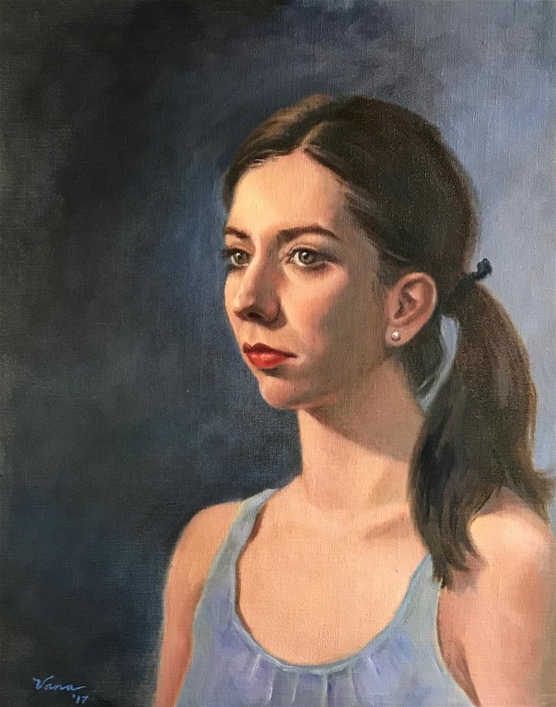 """Samantha"" original fine art by Vana Meyers"