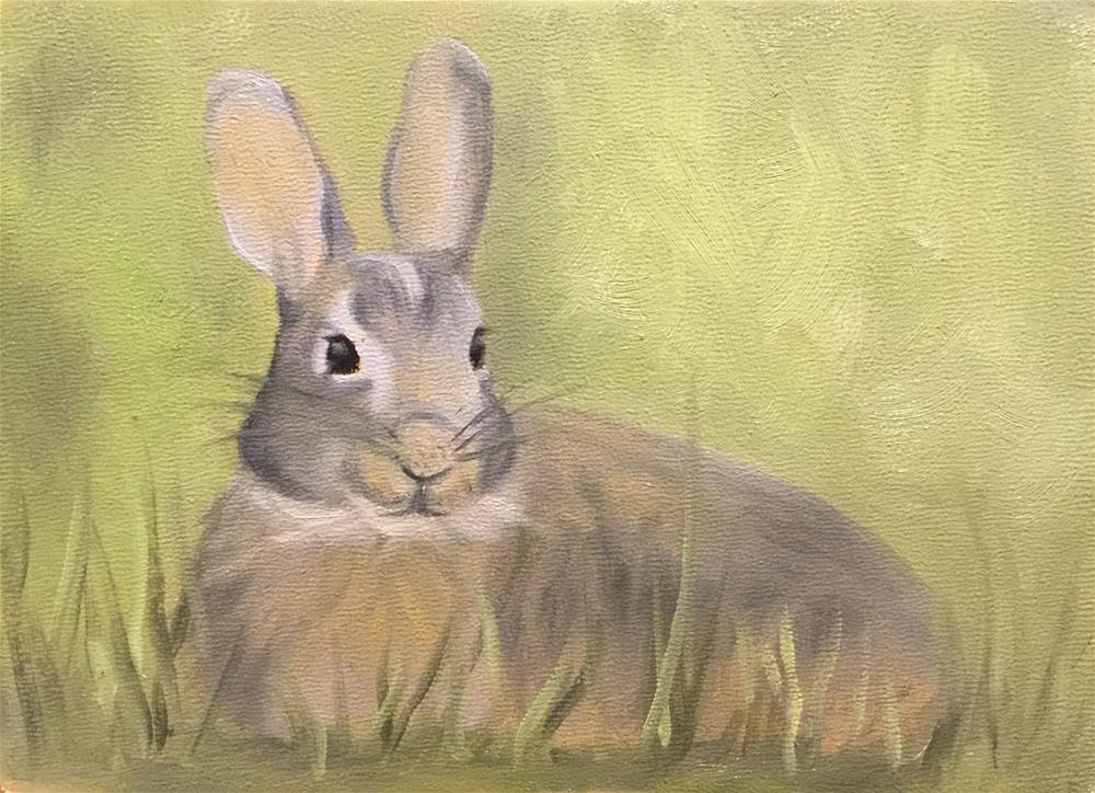 """Hopper"" original fine art by Dee Lessard"