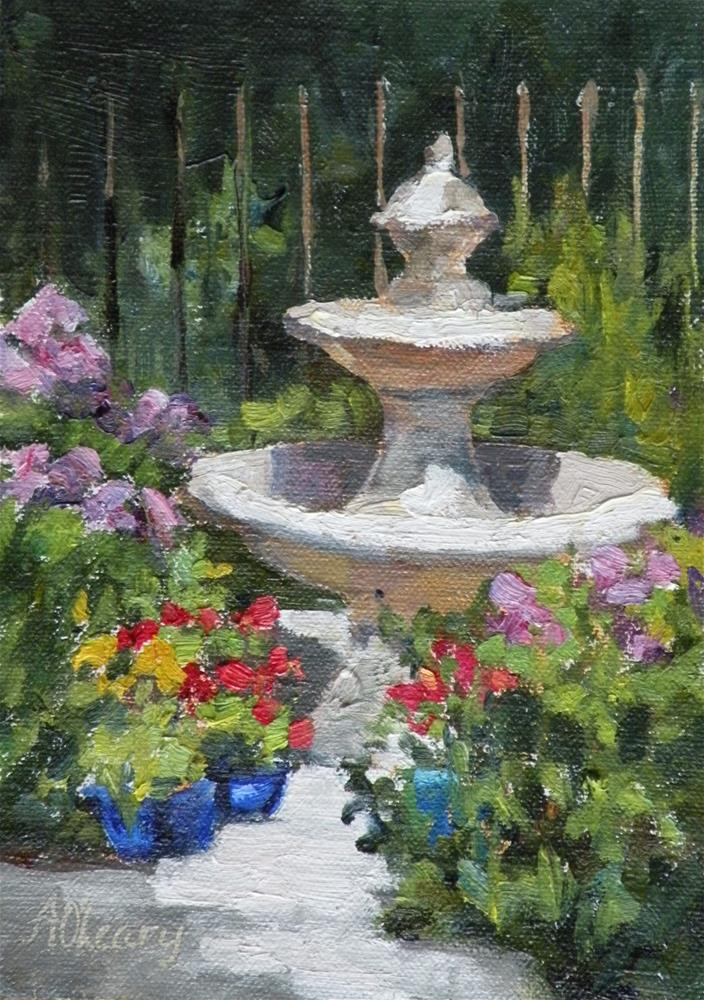 """Garden Spot"" original fine art by Alice O'Leary"