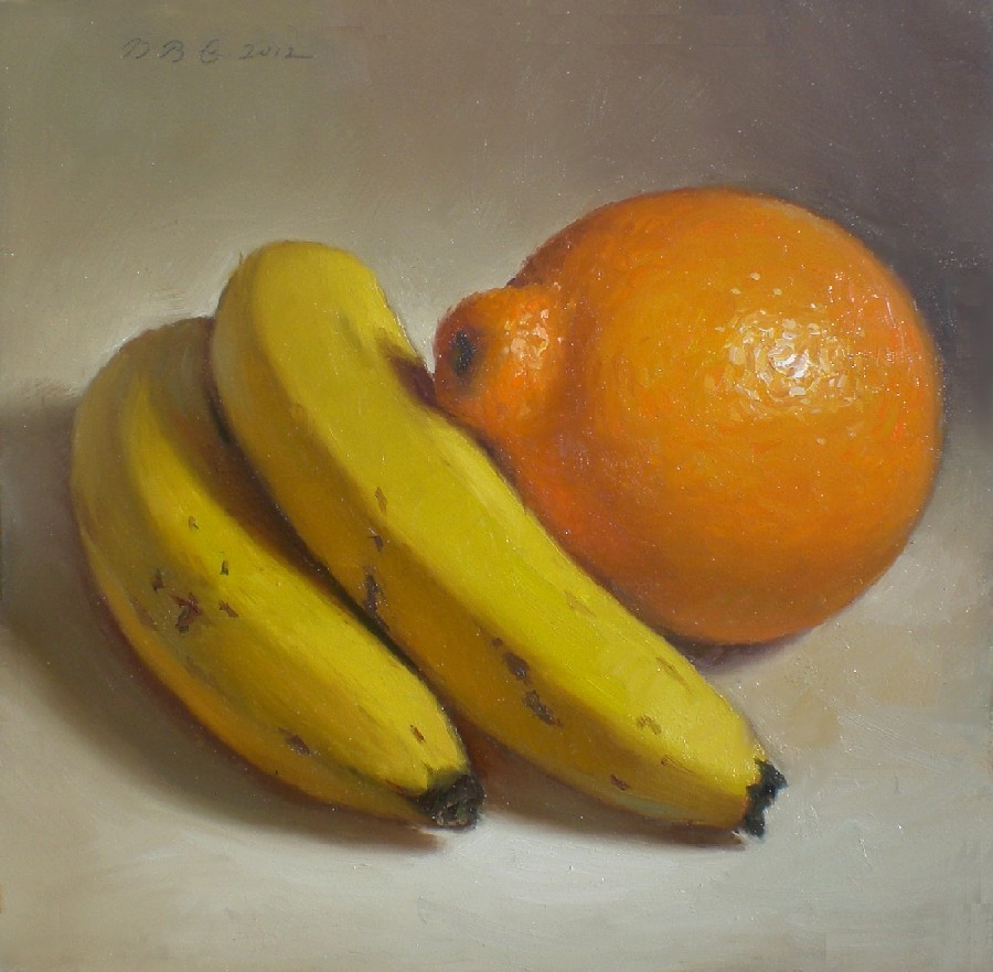 """Mineola and Bananas"" original fine art by Debra Becks Cooper"