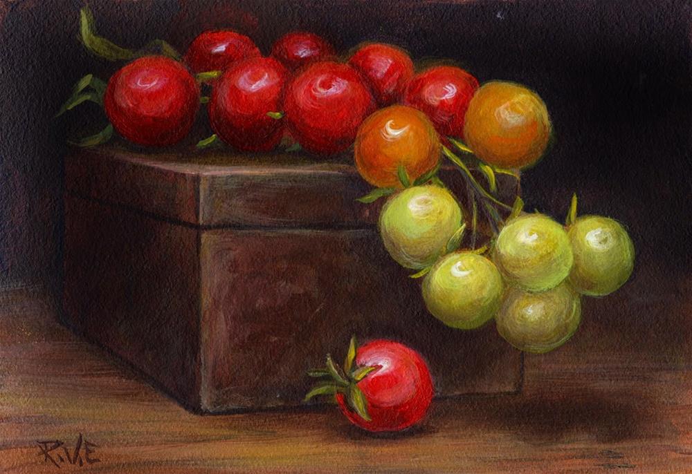 """Cherry tomatoes"" original fine art by Ruth Van Egmond"