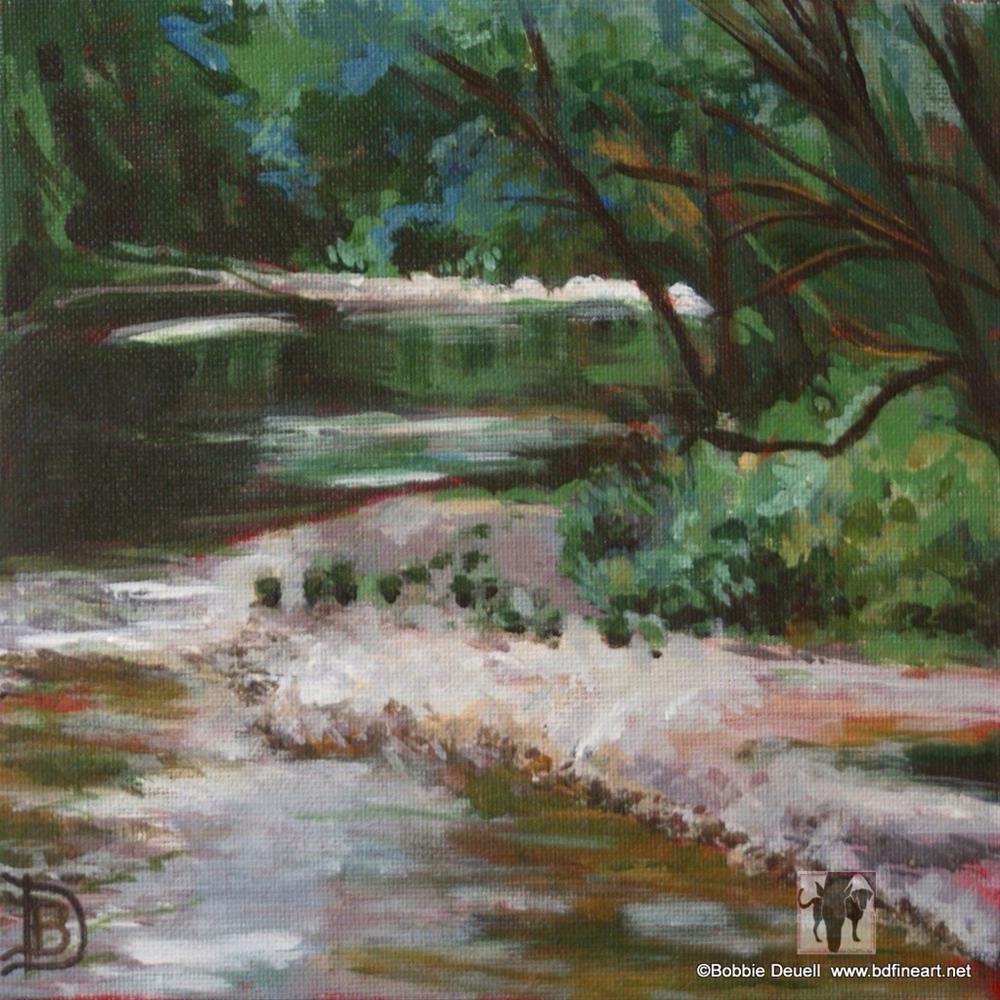 """#10 California Mountain Stream"" original fine art by Bobbie Deuell"