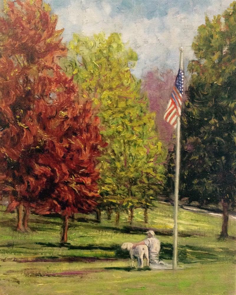 """A MAN, HIS DOG, HIS COUNTRY"" original fine art by barbara yongue"