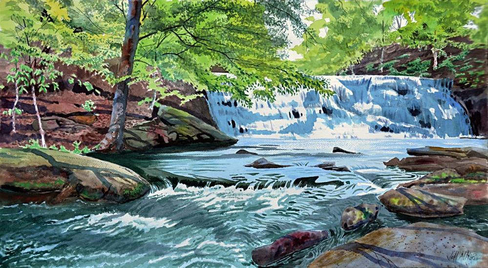 """Rutledge Falls 2"" original fine art by Jeff Atnip"