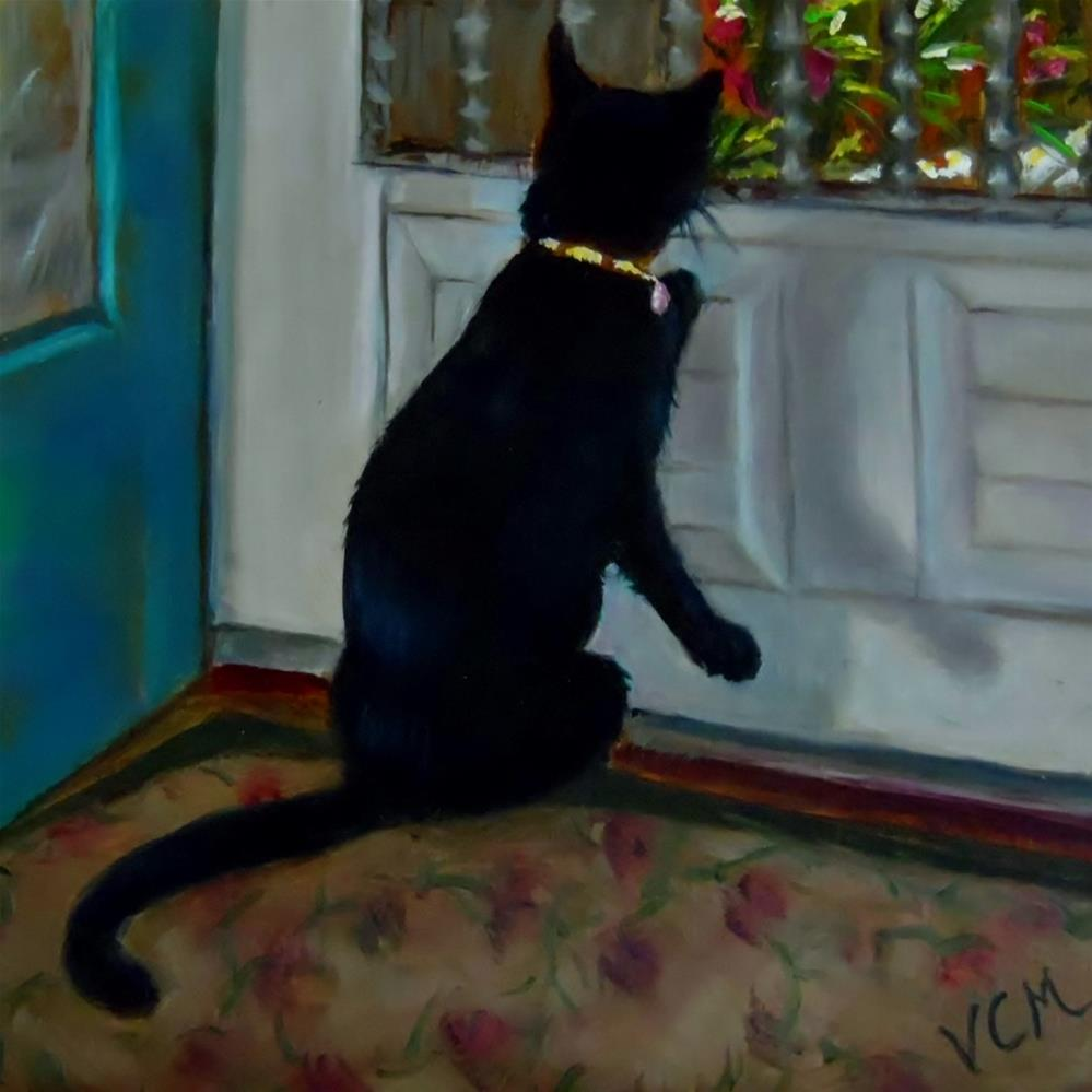 """Kitty Surveillance"" original fine art by Vana Meyers"