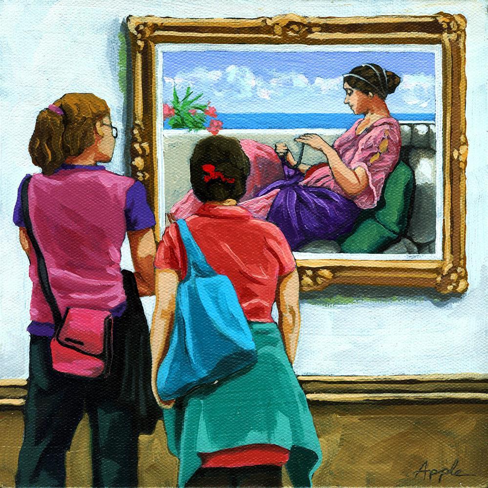 """Colorful Layers"" original fine art by Linda Apple"