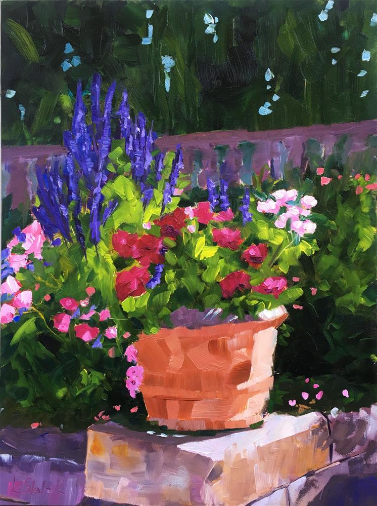 """""""Spring Blooms"""" original fine art by Lisa Noel"""