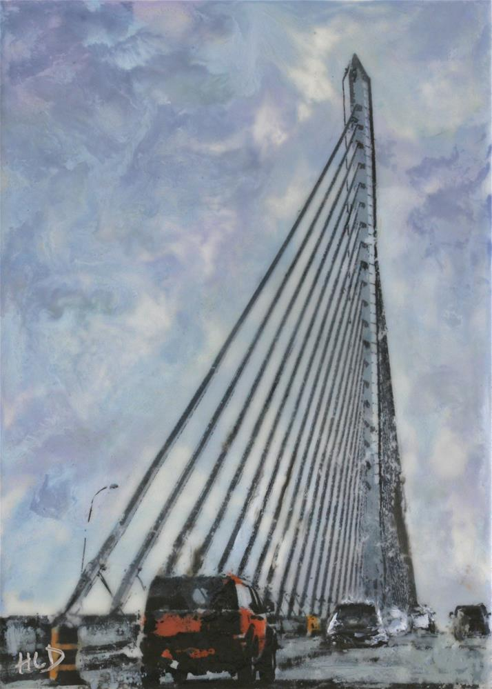 """Toledo Skyway Bridge"" original fine art by Heather Douglas"