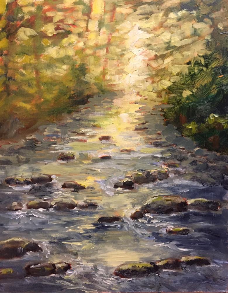 """And the river runs through"" original fine art by Natasha Ramras"