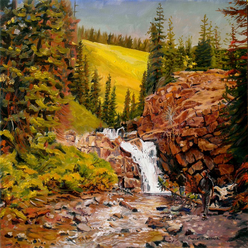 """Falls at Crested Butte Colorado"" original fine art by Daniel Fishback"