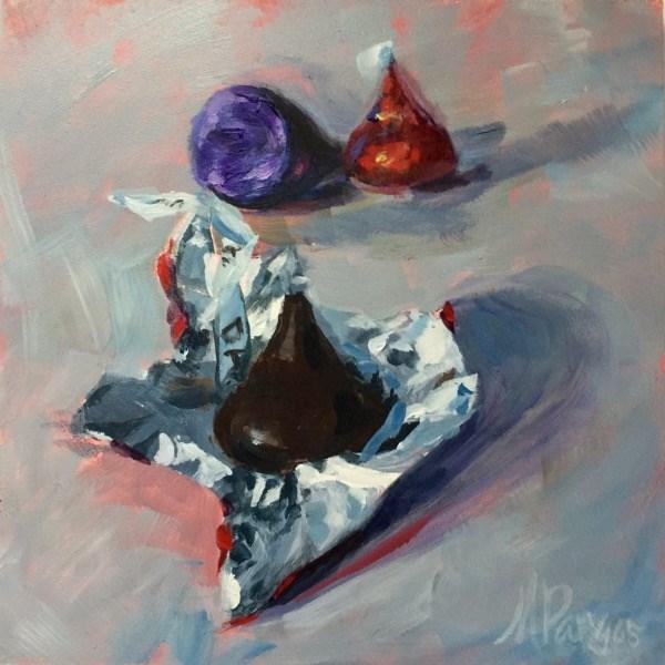 """Foiled Kisses"" original fine art by Mary Pargas"