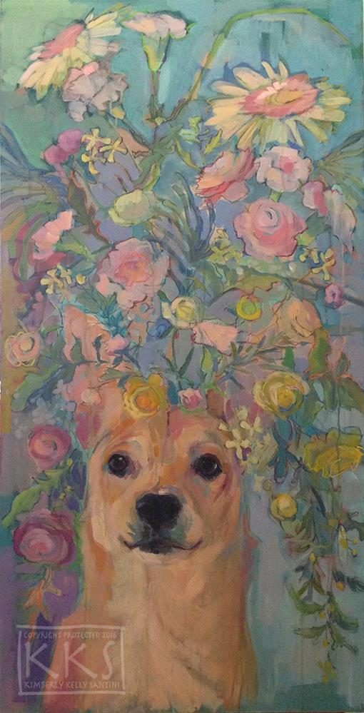 """Salvador Doggie"" original fine art by Kimberly Santini"