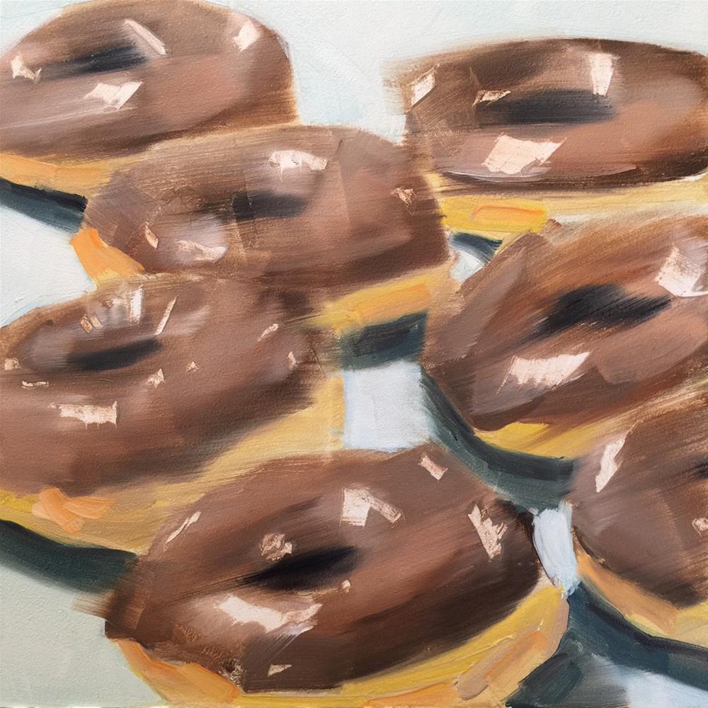 """""""268 Donut Day"""" original fine art by Jenny Doh"""