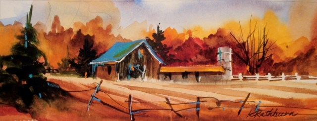 """""""FAll in the Country"""" original fine art by Kathy Los-Rathburn"""