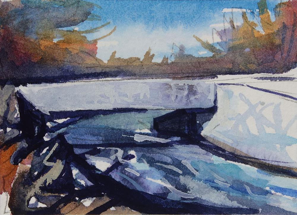 """Bridge"" original fine art by Chris Breier"