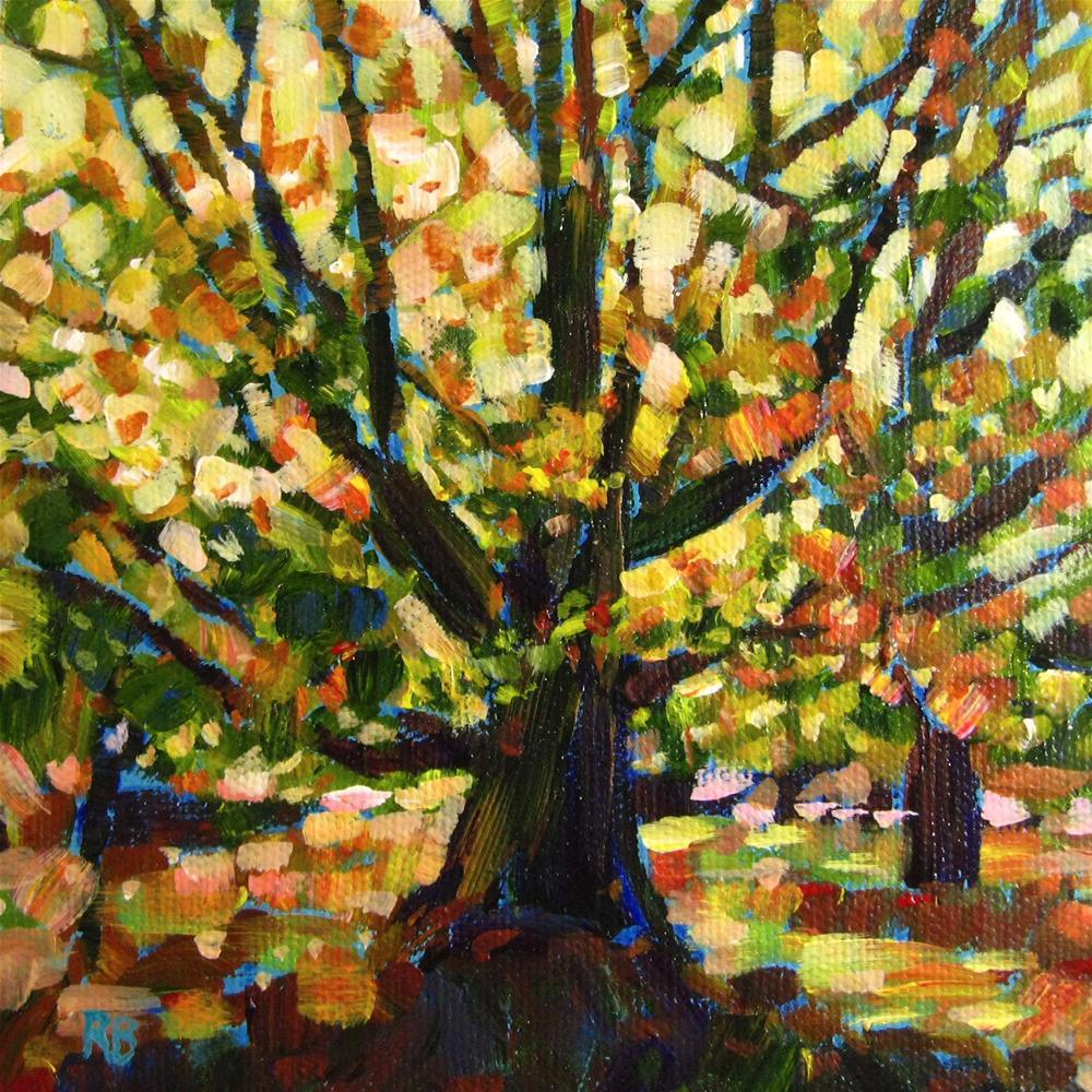 """""""Vibrant Tree I"""" original fine art by Robie Benve"""
