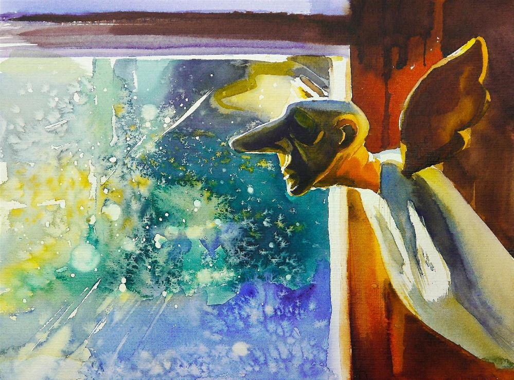 """looking through"" original fine art by Beata Musial-Tomaszewska"