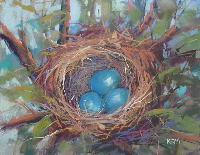 """Revisiting a Favorite Spring Motif"" original fine art by Karen Margulis"