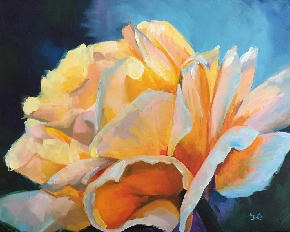"""Yellow Rose"" original fine art by Andrea Jeris"