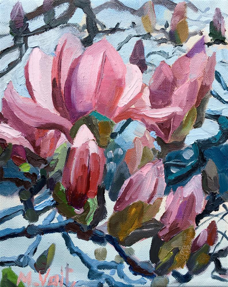 """Blossom"" original fine art by Milda Vaitiekunaite"