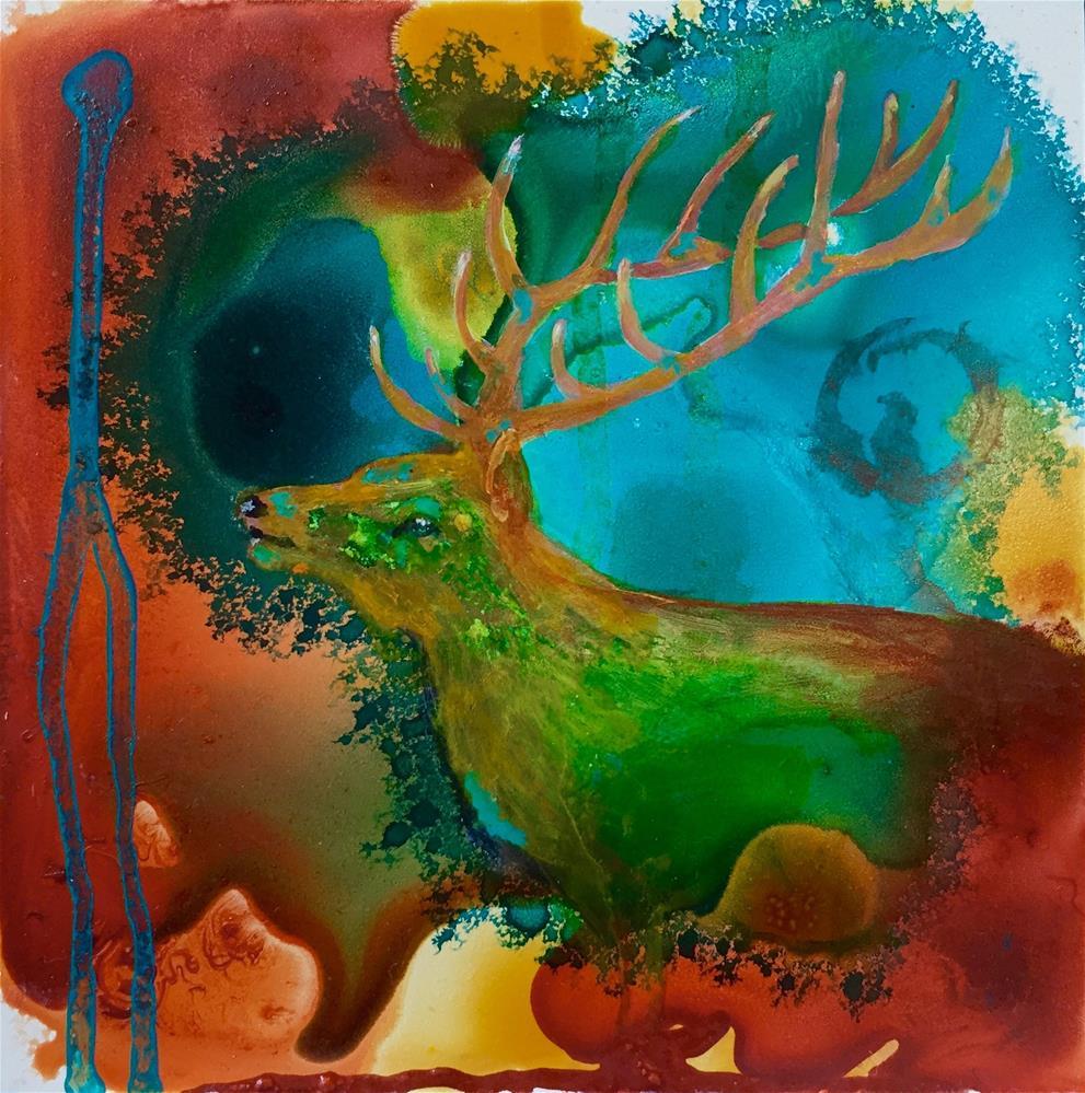 """#15 Royal Visitor"" original fine art by Silke Powers"