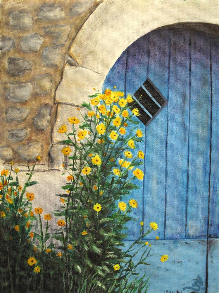 """""""Blue door"""" original fine art by Anna Starkova"""