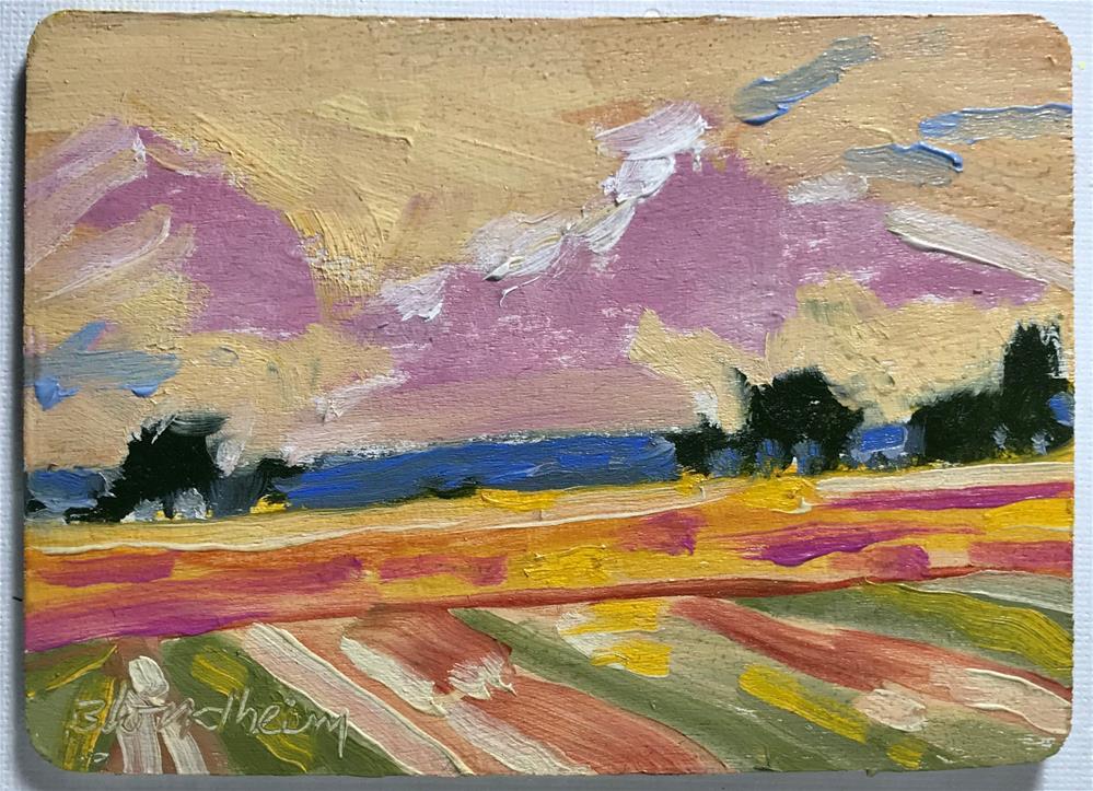 """Farm Field"" original fine art by Linda Blondheim"