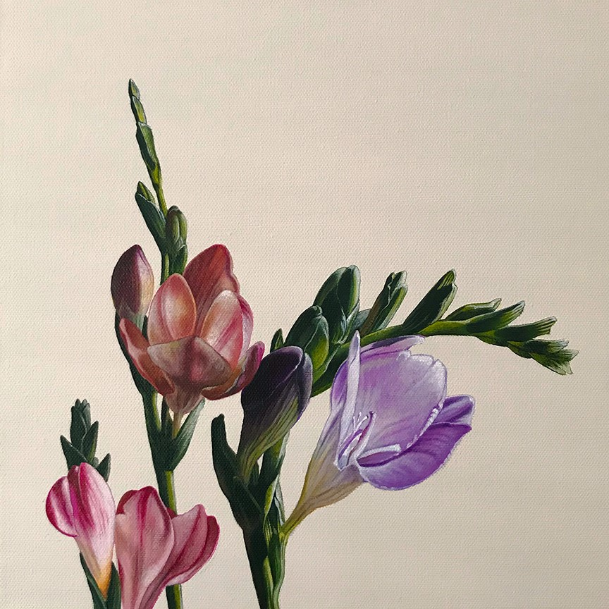 """In Bloom I"" original fine art by Jelaine Faunce"