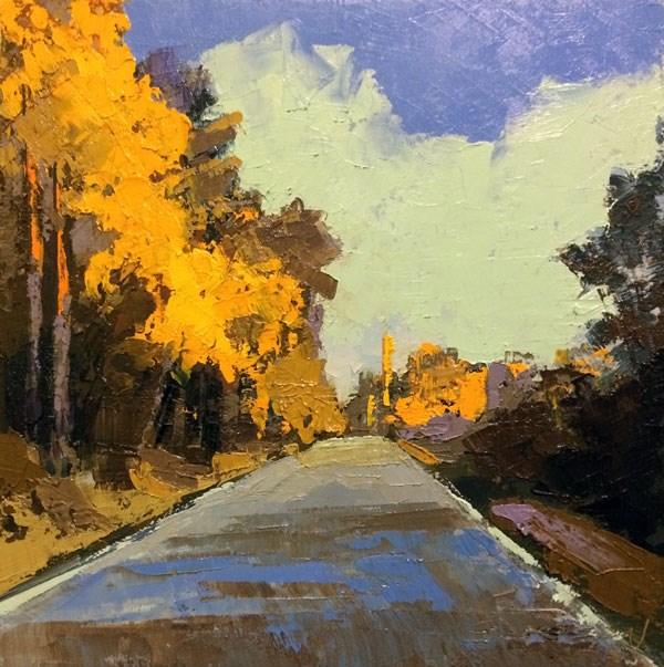 """""""Highway, Afternoon Light"""" original fine art by Mary Gilkerson"""