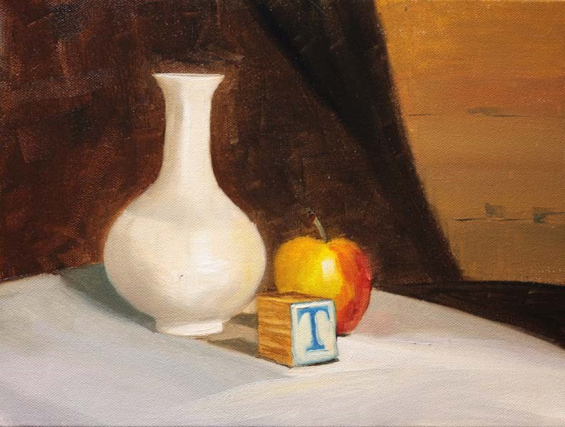 """""""T is for..."""" original fine art by Jane Frederick"""