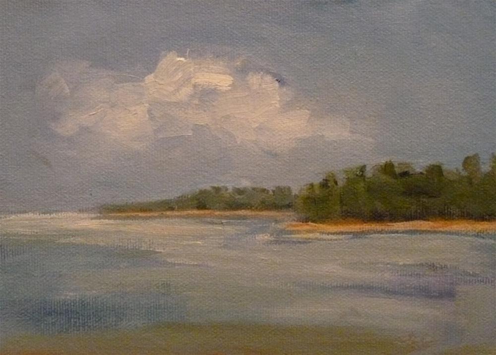 """""""From a Boat"""" original fine art by Jo-Ann Sanborn"""