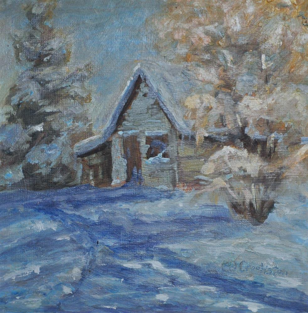 """""""Winter in the Mountains"""" original fine art by Catherine Crookston"""