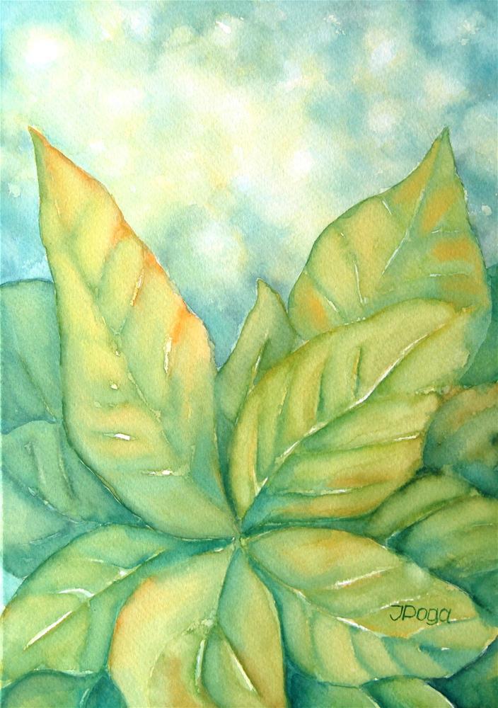 """Leaf patterns"" original fine art by Inese Poga"